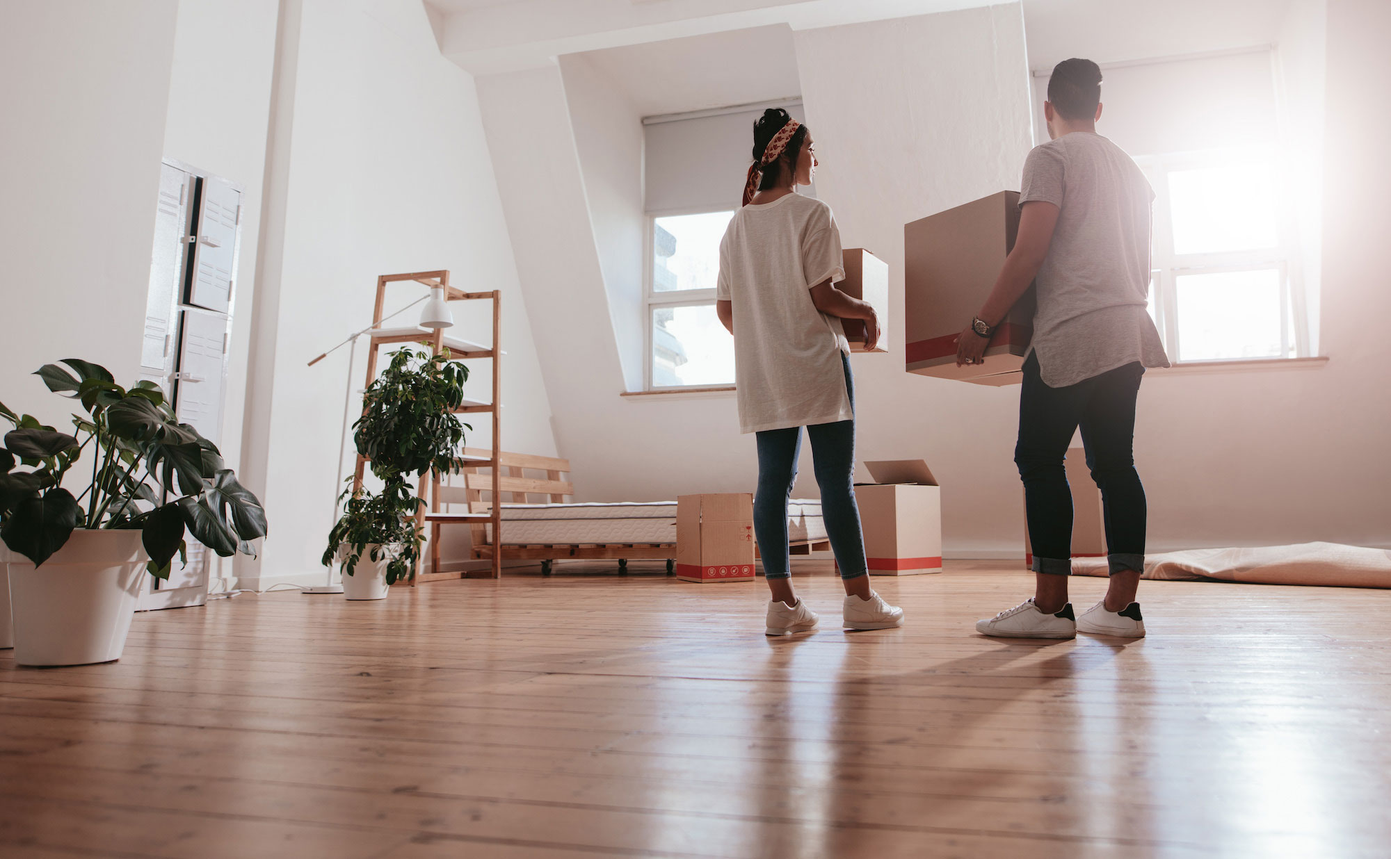 Tenants moving into a house