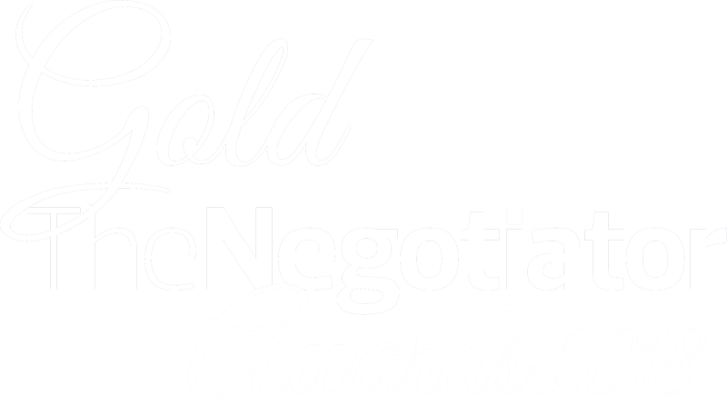 Gold winner at The Negotiator Awards 2018