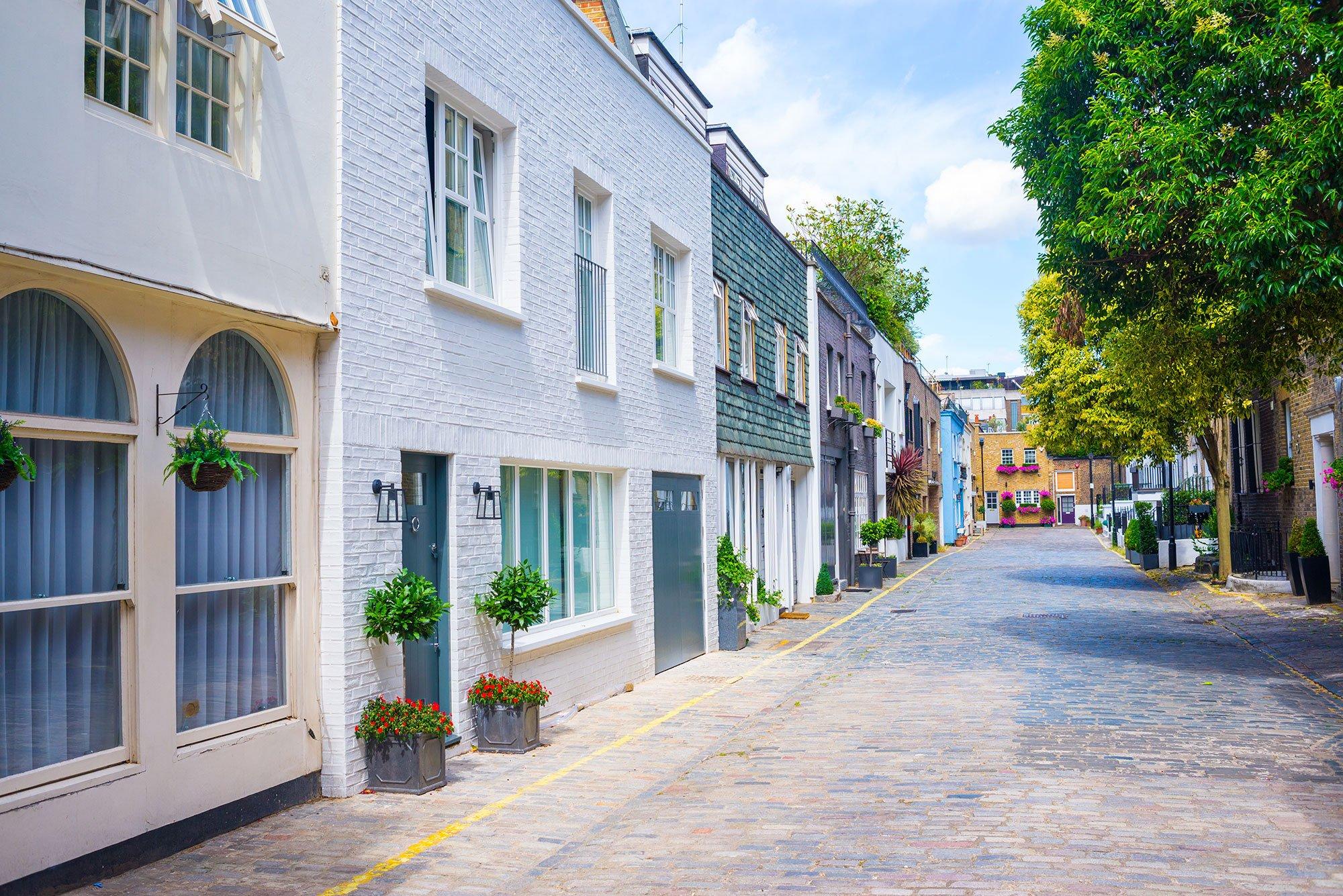 Mews houses in London